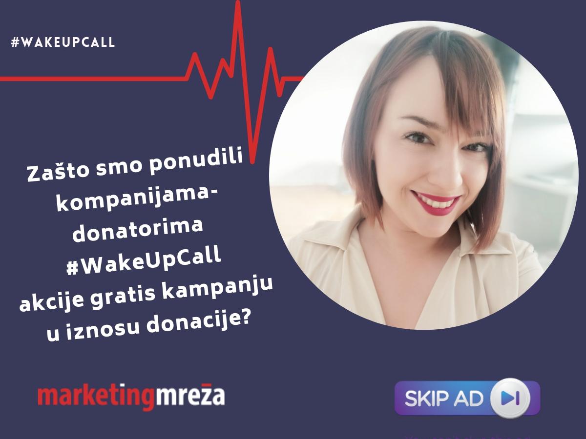 wakeupcall donacija marketing kampanja